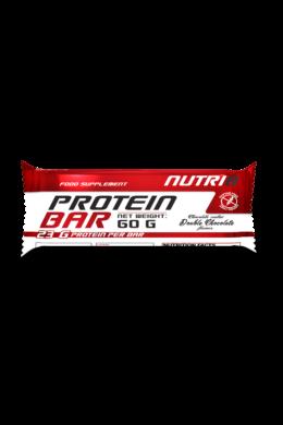 NUTRI8 Protein szelet Dupla Csokoládé (bevonatos) 60g