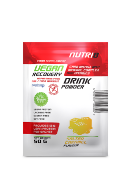 NUTRI8 Vegan Recovery Drink Sós Karamell 50g