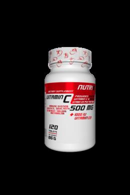 NUTRI8 C-Vitamin 500mg + D3 Vitamin 120 tabletta