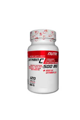 NUTRI8 C-Vitamin 500mg + D3 Vitamin 120 tabletta