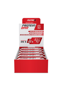 NUTRI8 Protein Bar Eper-Yoghurt Szelet Bevonatos 20x60g