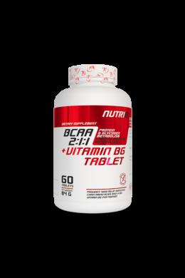 NUTRI8 Bcaa 2:1:1 + B6 Vitamin Tabletta 1400mg 60 tabletta