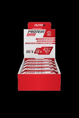NUTRI8 Protein Bar Csokoládé-Málna szelet 20x50g