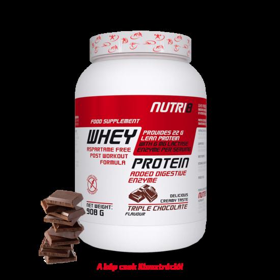 NUTRI8 Whey Protein Tripla csokoládé 908g