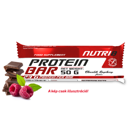 NUTRI8 Protein Bar Csokoládé-Málna szelet 50g