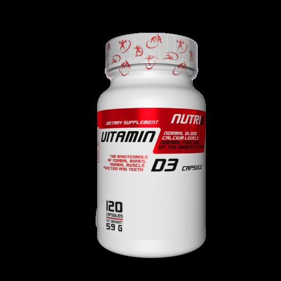 NUTRI8 D3 Vitamin 120 kapszula