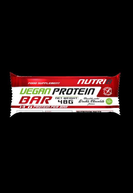 NUTRI8 Vegan Protein szelet Dupla Csokoládé (bevonatos) 48g